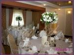 kandelabry z 5  świecami, dekoracja stołów