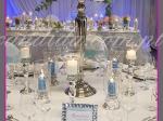dekoracja stołu weselnego z kandelabrem
