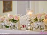 dekoracja sali weselnej stół Młodej Pary