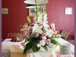 weselna dekoracja kwiatowa sali bilardowej w Dworze Radzin