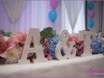 Dekoracja stołu Młodej Pary, inicjały Młodej Pary, Candida pracownia dekoracji Grażyna Góska tel. +48504055969 candida@candida.com.pl dekoracje sali i stołów weselnych, florystyka ślubna