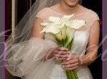 Wiązanka ślubna wykonana z białej cantedeskii