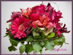 Wiązanka ślubna z róż, gerber, alstromerii, anizoganthos