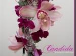 Wiązanka ślubna z różowych storczyków dendrobium, różowych storczyków cymbidium