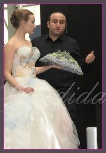 wiązanka ślubna pokaz florystyczny w Moskwie