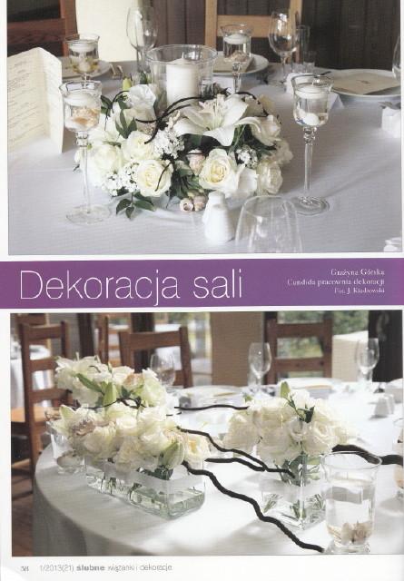 dekoracje stołów weselnych, dekoracja sali weselnej