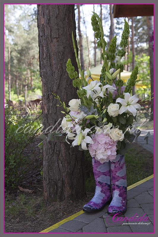 nietypowa dekoracja weselna, dekoracje weselne w hotelu Boss