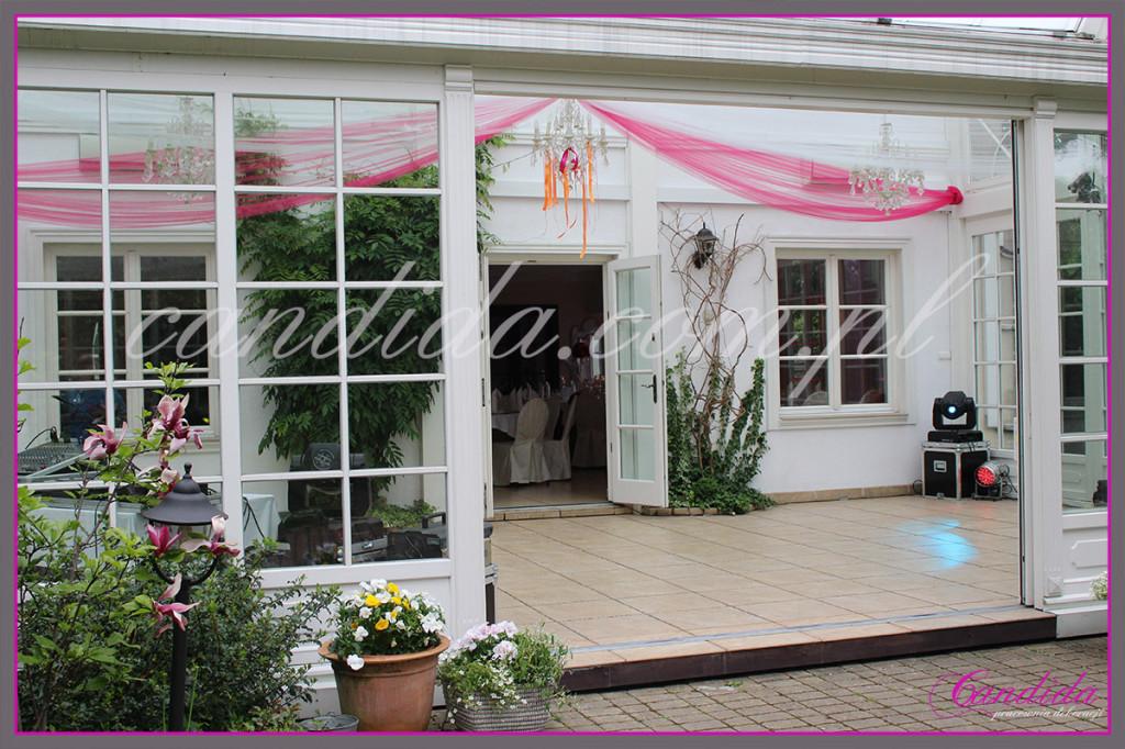 dekoracja tiulowa sufitu Villa Park Julianna