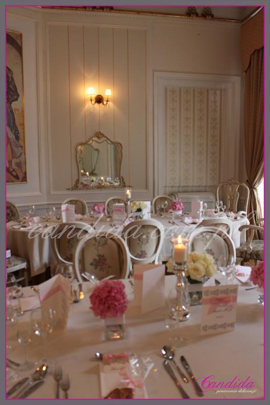 wesele w restauracji Pod Gigantami, dekoracje sali weselnej, dekoracje przyjęcia weselnego 2