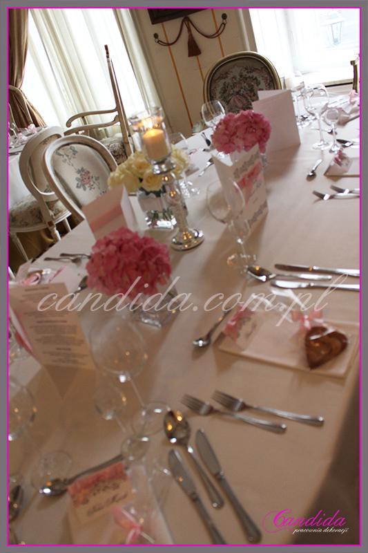 wesele w restauracji Pod Gigantami, dekoracje sali weselne