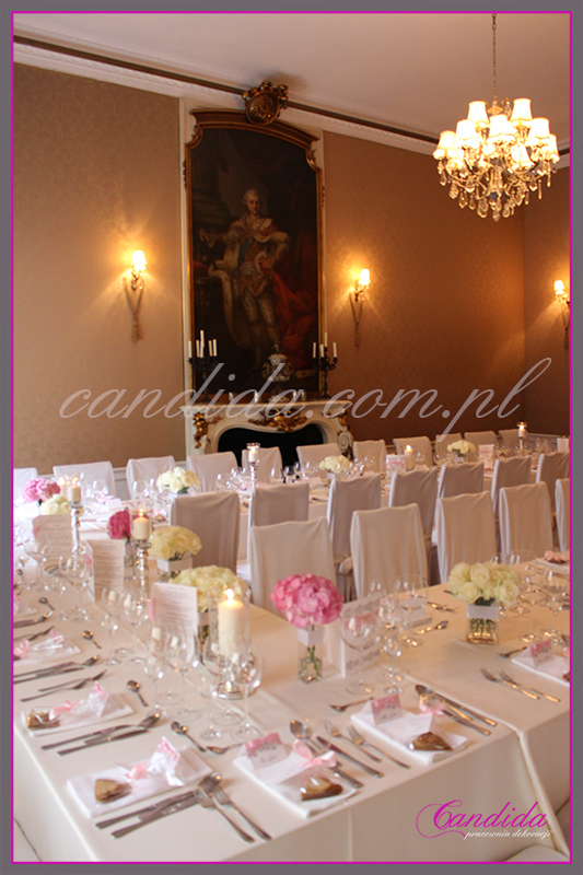 dekoracja sali weselnej restauracja Pod Gigantami