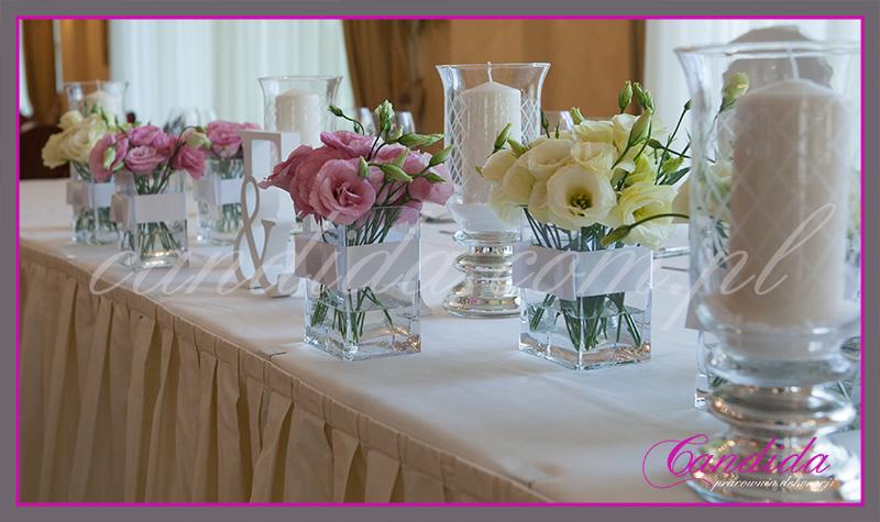 dekoracje weselne w hotelu Pan Tadeusz, wesele w hotelu Pan Tadeusz, dekoracje stołów i sal weselnych