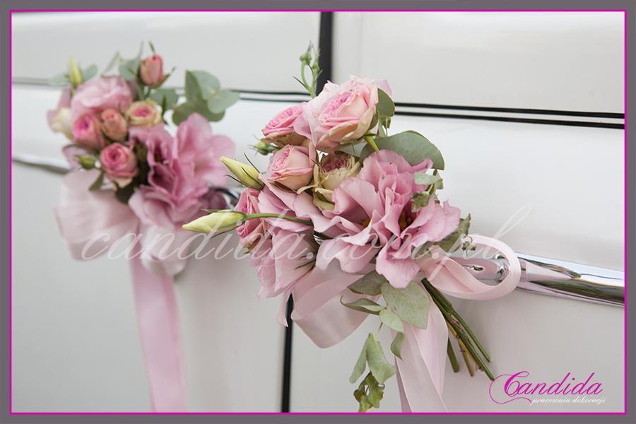 dekoracje samochodu do ślubu, dekoracje ślubne samochodu