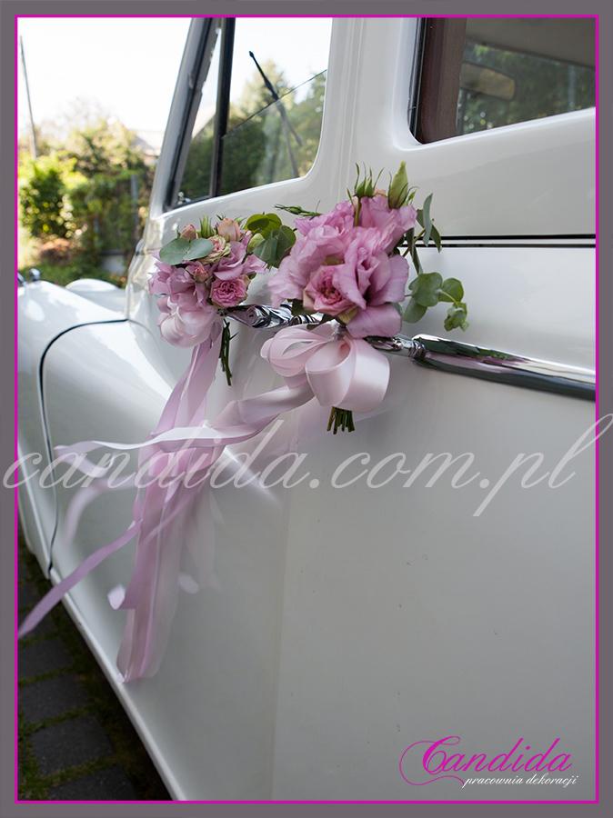 dekoracja samochodu do ślubu, ślubne dekoracje samochodu