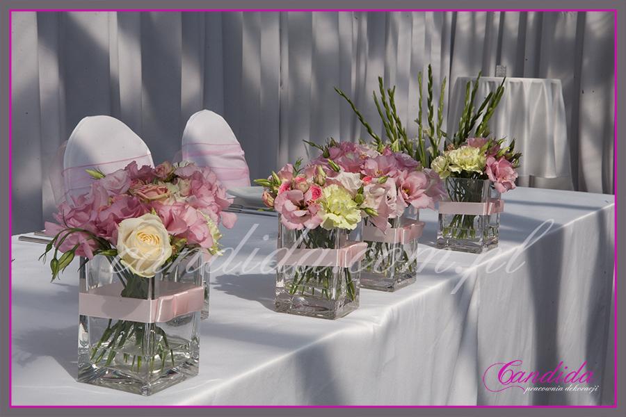 wesele w restauracji Boathouse, dekoracja stołu Młodej Pary