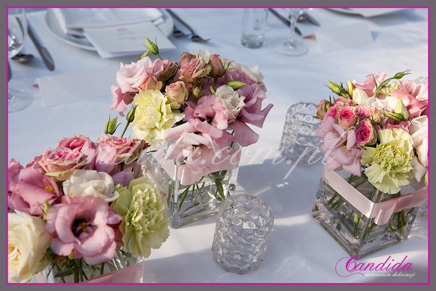 dekoracje weselne w restauracji Boathouse, dekoracje stołu Młodej Pary