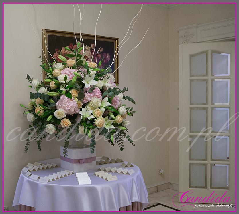 dekoracja weselna w Pałacyku w Otrębusach, dekoracja sali weselnej