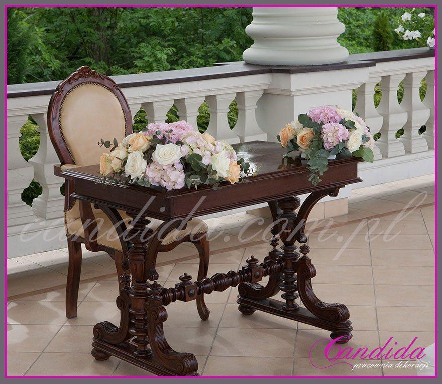ślub w plenerze dekoracje kwiatowe ślubu w plenerze w Otrębusach 3