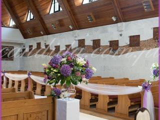 dekoracja ślubna kościoła dekoracja nawy głównej dekoracja ławek