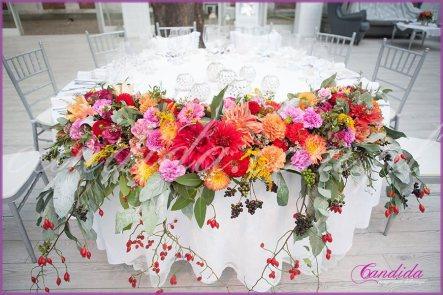 dekoracje weselne, dekoracje stołów i s sal weselnych