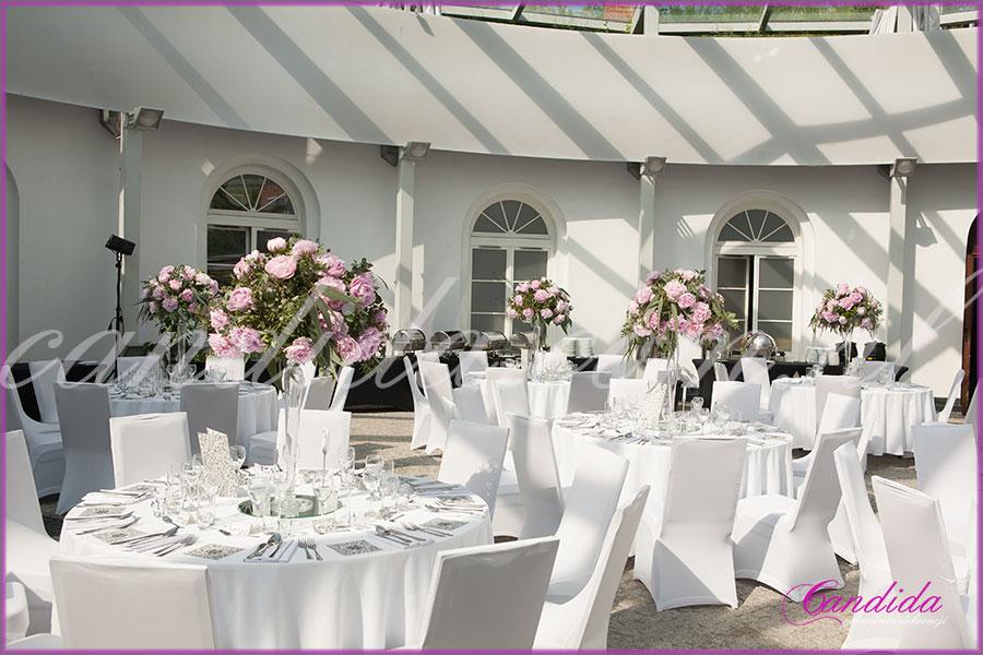 dekoracje weselne w Forcie Sokolnickiego dekoracja stołów 6