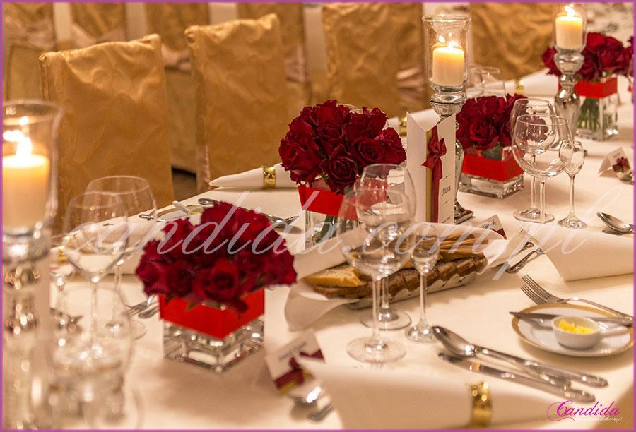 dekoracje weselne w restauracji Pod Gigantami dekoracja weselna stołu Młodej Pary