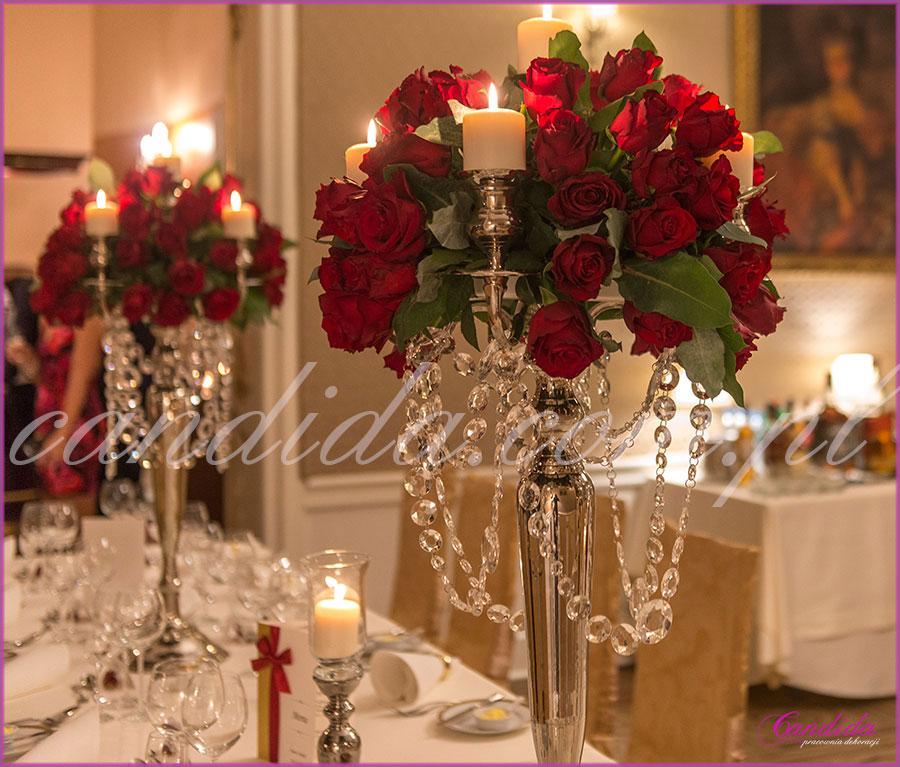 dekoracje ślubne, dekoracje stołów i sal weselnych, Restauracja Pod Gigantami