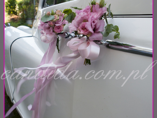 dekoracja ślubna samochodu, Candida pracownia dekoracji Grażyna Góska tel. +48504055969 candida@candida.com.pl