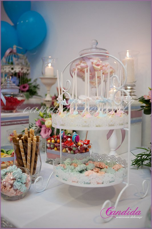 candy bar Hotel Brant, dekoracje weselne