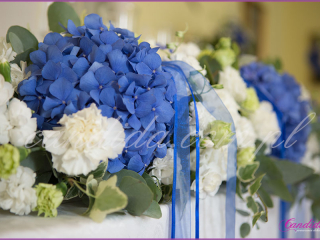 dekoracje sali i stołów weselnych, florystyka ślubna, dekoracje weselne wykonane w Dworze Radzin