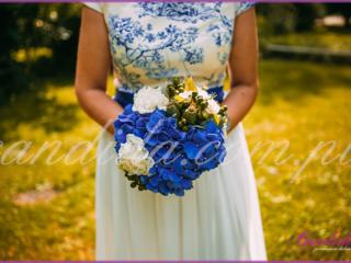 wiązanka ślubna z hortensji, bukiet ślubny z hortensji, wiązanki ślubne, bukiety ślubne