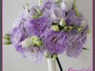 Wiązanka ślubna z lawendowej eustomy