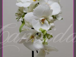 wiązanka ślubna ze storczyka phalenopsis, alstomerii, bukiet ślubny ze storczyków